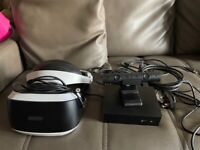 PS4 VR, box, camera and cables