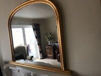 A Coloured Gold Edge Mirror