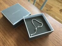 Silver Bracelet, Argento Friendship Bracelet (with box, idea gift)