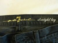 "7 For All Mankind Ladies Jeans Straight Leg 29"" Waist Excellent Condition"