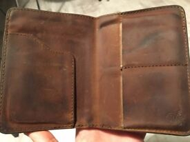 Saddleback leather wallet in Tobacco colour - Genuine