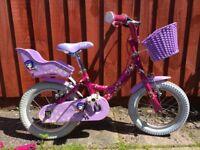 """Raleigh Molli Kids Bike - 14"""" Wheels 3-6 years"""