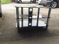 TV Table black glass