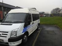 ford transit campervan 2 beth with 2013 face lift.