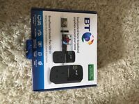 BT Broadband Extender Flex 500 Kit with cables and box