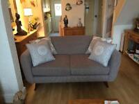 2 seater fabric sofa in excellent condition only 12 months old