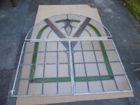 5 piece frosted stained glass for sale