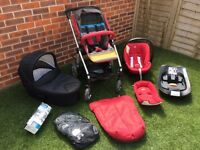 Mamas & Papas Sola2 Pushchair with Car Seat/base/Carrycot/Foot-muff/Rain Cover - Excellent Condition