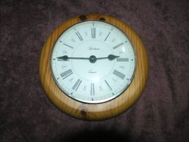 Pine Circular Wall Clock Weymouth free local delivery