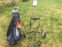 Golf clubs, bags, caddy & other accessories