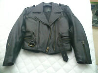 Ladies Biker Jacket, Ladies Biker Leather Trousers, Gent Waterproof boots, Gents waterproof gloves