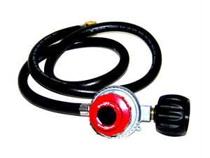 Propane Regulator High pressure LPG BBq gas burner stove  fryer with 4 ft  hose