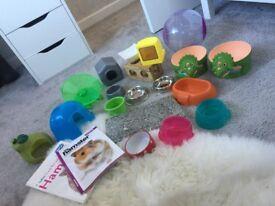 Various hamster items like new