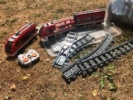 Remote control LEGO train set