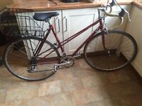 Vintage Raleigh. 'Clubman Lady' Racer. Burgundy. Great condition.