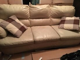 2 seater sofa leather look