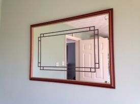 CLASSIC MAHOGANY FRAMED MIRROR WITH GOLD TRIM £10