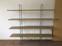 Bookcase, wooden shelves, metal stands - Great condition! Seconds from Haggerston station