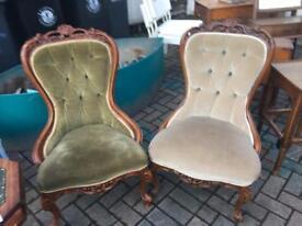 Victorian nursing chairs