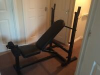 Weight bench - sit up bench and some weights.