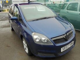 VAUXHALL ZAFIRA 1910cc ENERGY CDTI TURBO DIESEL 7 SEATER MPV 2007-07, ONLY 103K