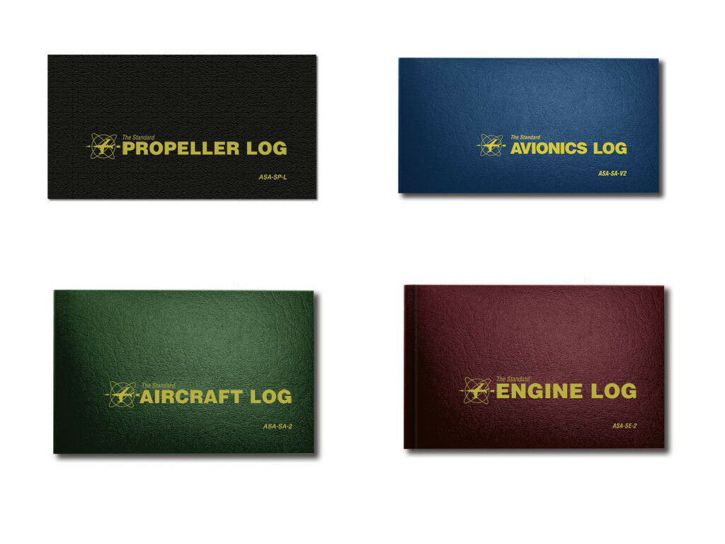 Details about Complete Aircraft Maintenance Logbook Combo - Airframe,  Engine, Avionics, Prop