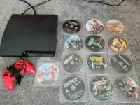 PS3 console, controller and 13 great games