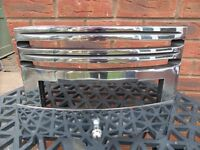 Cast Iron Fire Grate Front for living flame fire