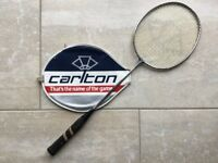 Carlton Badminton Racket strings complete head size 24cm x 20cm Adult / Youth