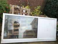External PVC window with frame white ONO