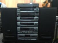 AIWA CLASSIC HIFI STEREO Z9500M 5CD CHANGER 6 STACK SYSTEM