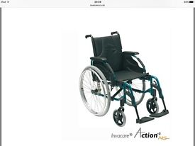 INVACARE ACTION 4 NG WHEELCHAIR BRAND NEW COLOUR OCEAN BLUE