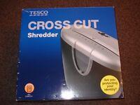 Tesco cross cut shredder