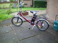 Electric bicycle. Folding. 'Breeze' Excellent THROTTLE power (even without peddling) New