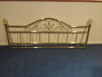 Free Kingsize gold headboard in excellent condition. It is complete and ready for use.