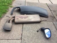 MK2 LEON PRE-FACELIFT DRIVER SIDE MIRROR,LEON CUPRA STOCK EXHAUST WITH REAR DIFFUSER £60