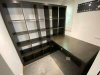 KEA desk and bookshelf unit