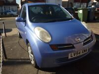 lovely nissan micra SE,1240cc ,five speed manual, five doors h/back,lovely met/blue,only 57000 miles
