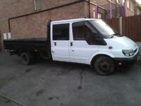 FORD TRANSIT CREW CAB T350 PICK UP GOOD CLEAN WORK HORSE NEW CLUTCH & FLY WHEEL MOT,D END JUNE