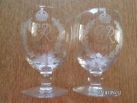Brandy glasses 1937 George 6th