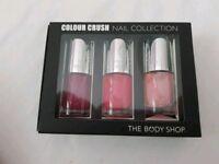 The Body Shop 3 nail varnish in presentation box