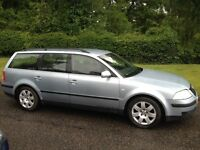 VW PASSAT 1.8 T ESTATE 2002 SERVICE HISTORY 8 MONTHS MOT-QLLOY WHEELS AIR CON -DRIVES WELL