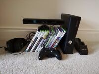 XBOX 360 4GB with Kinect and 12 games