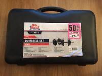 Lonsdale 15kg dumbell set vinyl