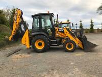 Jcb 3cx for hire with driver groundworks footings