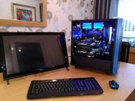 Intel i7 Gaming PC, 8gb DDR4, 2x m.2 HD 2TB,, nVidia graphics