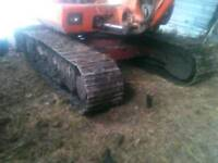 Pair of used excavator tracks for Daewoo DH50