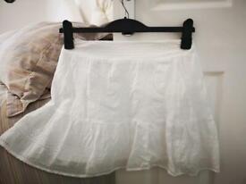 American Eagle White Skirt
