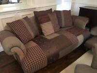 Sofas, Queen Ann Chair and Foot Stool