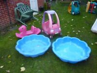 Large outdoor toys.
